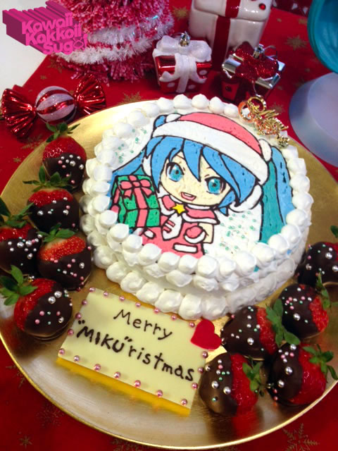 Celebrate Your Holidays With A Hatsune Miku Decorated Christmas Cake