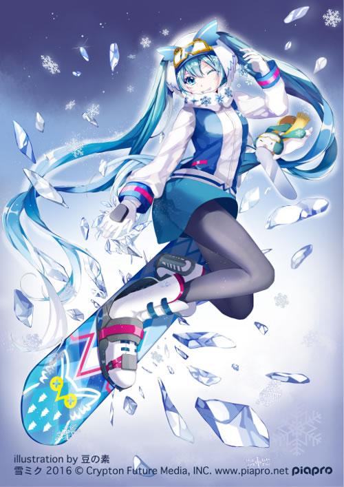 Official Snow Miku 2016 Illustration by Mame no Moto