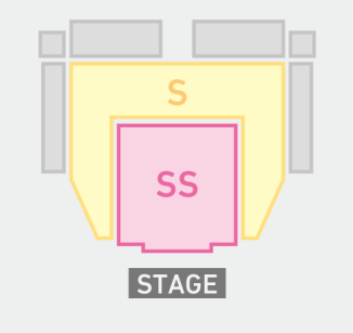Ticket areas as shown on other pages