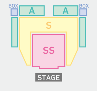 Ticket areas as shown on JP page