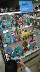 Figures and plushies at SEGA's booth