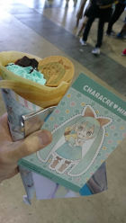 Hatsune Miku themed crepes!