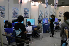 SEGA's Project Diva Booth