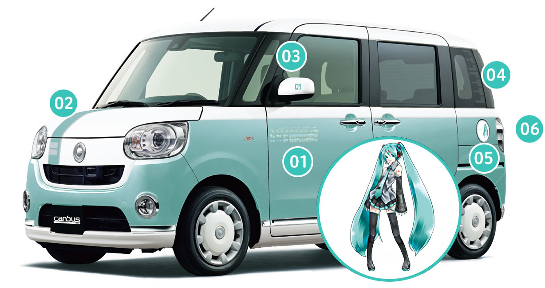 Hatsune Miku Themed Car Announced By Daihatsu, The Move Canbus Miku