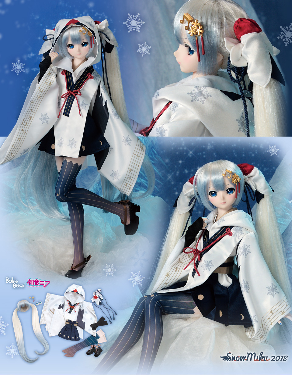 Snow Miku 2018 And Vampire Outfits For Dollfie Dream