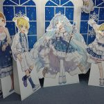 Cutout displays inside the Sapporo Animate store!